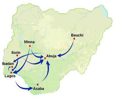 Overland Route Map from official website