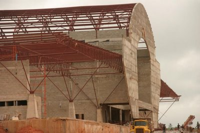Asaba Airport during construction