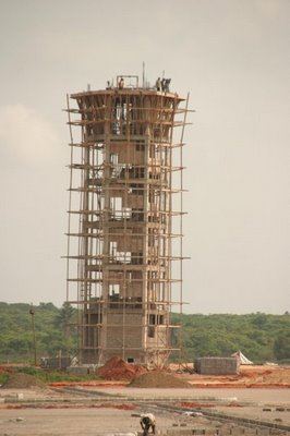 Asaba Airport control tower during construction