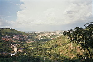 a view of Enugu from the west of the city