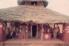 A replica of a traditional Nigerian hut