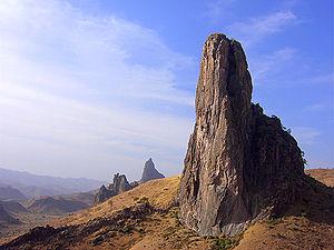The Rhumski peak of the Sheshi mountain ranges